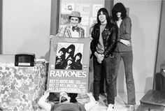 Ramones- Johnny and Joey with Uncle Floyd, 1980...