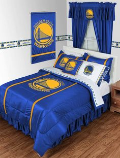 Golden State Warriors 3 Piece TWIN Comforter SET Includes 1 Twin Comforter 1 Pillow Sham 1 Pillowcase >>> Find out more about the great product at the image link. Golden State Warriors, Twin Comforter Sets, Queen Bedding Sets, Queen Bedroom, Master Bedroom, Basketball Bedroom, Love And Basketball, Nba Basketball, Basketball Cupcakes