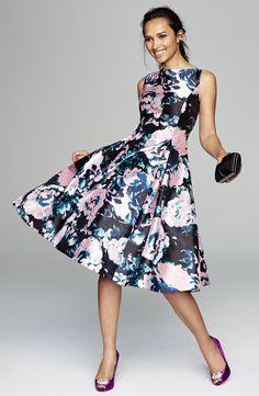 Adrianna Papell ''Mikado' Sleeveless Fit & Flare Dress (Regular & Petite)