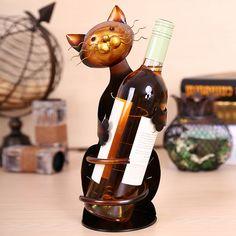 Cat Wine Rack Practical Sculp Home Decor Lovely