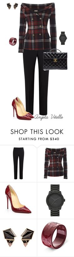 """""""Untitled #628"""" by angela-vitello on Polyvore featuring Paul Smith Black Label, Faith Connexion, Christian Louboutin, LEFF Amsterdam, Nak Armstrong and Chanel"""