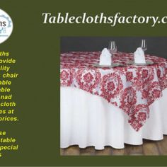 We provide high-quality tablecloths, chair covers, table linens, table runners and other tablecloth accessories at wholesale prices. Wholesale Tablecloths, Tablecloths For Sale, Chair Covers, Table Linens, Table Runners, Accessories, Chair Sashes, Tablecloths, Table Toppers