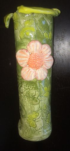 Rustic Bud Vase with Flower