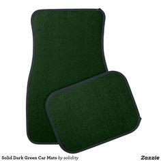 Sold Solid Dark Green Car or Truck Mats #leatherwooddesign #automobile #huntergreen