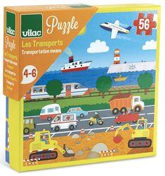 VILAC puzzel transportation 4 jr+ / 56 stks | Bestel online | PSikhouvanjou (10,95)