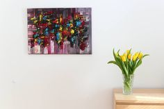 Acrylic Paintings, Glass Vase, Abstract Art, Channel, Website, Canvas, Link, Youtube, Instagram