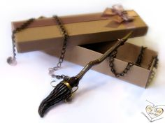 Harry Potter Broomstick Pendant  FREE SHIPPING via Etsy (Love this!!! Very realistic.)