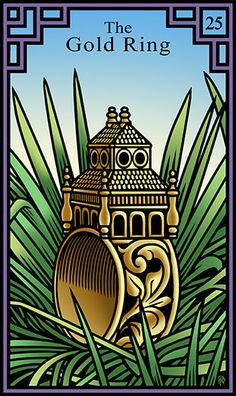 25 - The Gold Ring - Burning Serpent Oracle par Robert M Place & Rachel Pollack