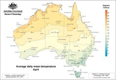 Average daily mean temperature - April