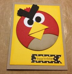3 Monkeys throwing around some....PAPER!!!: Angry Bird Card