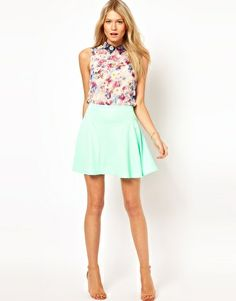Image 1 of ASOS Mini Skirt in Texture