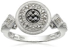 Sterling Silver Black and White Diamond Round Ring (1/10 cttw) Size 6 Amazon Collection http://www.amazon.com/dp/B004I6EPQC/ref=cm_sw_r_pi_dp_WL.qwb0VJN8HV