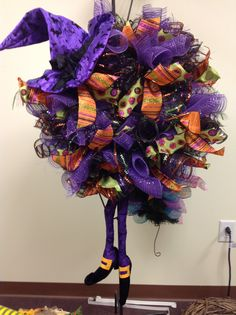 Mesh Creations- Witch wreath-July 2014