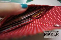Carteirinhas porta notas e cartões bem fáceis de fazer. Molde e PAP | Arte com Tecidos