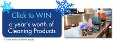 Contest- Win a Year's Worth of Cleaning Products!  Register Today: http://www.avmor.com/regist_win.php