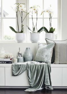 Crushed Velvet And Linen Cushion - from http://www.kellyhoppen.com/