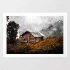 Cottage in the mountain Art Print