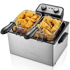 Deep Fryer with Basket, M Minca Electric Deep Fryer with Timer, Stainless-Steel Triple Basket, 4 Liter Oil Capacity – Online Cooking Store Small Deep Fryer, Best Deep Fryer, Bayou Classic Fryer, Outdoor Deep Fryer, Oven Fryer, Cooking Stores, Electric Deep Fryer, Specialty Appliances, Kitchen Appliances