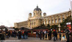 WEIHNACHTSDORF MARIA THERESIEN PLATZ Vienna, Louvre, Street View, Building, Travel, Viajes, Buildings, Destinations, Traveling