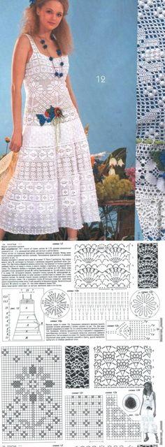 2768e2203dc673 1567 beste afbeeldingen van Kleedjes - Crochet clothes