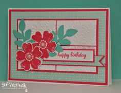 March 2014 Card Class featuring Stampin' Up! Flower Shop