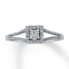 10K White Gold 1/8 Carat t.w. Diamond Promise Ring MY FAVORITE! !!!!!!!!DRP