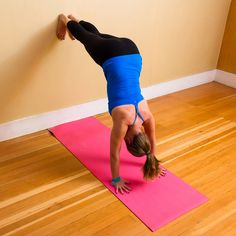 """Build Up Your Core and Confidence — the """"L"""" Handstand: Incorporating Handstand into your practice can be daunting."""