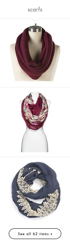 """scarfs"" by aubreyspringer ❤️ liked on Polyvore featuring accessories, scarves, top knot scarf, tube scarf, circle scarf, infinity scarf, loop scarf, round scarf, floral infinity scarves and bandana scarves"