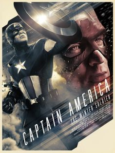 captain america the winter soldier fantastic illustrated poster | The Poster Posse Takes On 'Captain America: The Winter Soldier ...