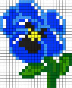 Pensamiento Azul Perler Bead Pattern / Bead Sprite
