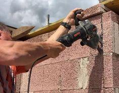 Arbortech Brick and Mortar Saw Saws Through Brick Like Butter - Arbortech brick saw AS170 Brick Saw, True Up, Like Butter, Brick And Mortar, Cool Tools, Concrete Patios, The Incredibles