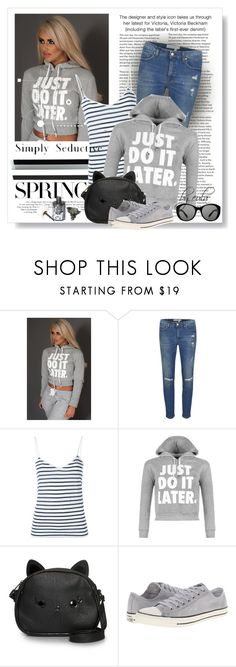 """""""Cute Trend: Cropped Hoodies"""" by eula-eldridge-tolliver ❤ liked on Polyvore featuring Victoria Beckham, Yves Saint Laurent, WearAll, Loungefly and Converse"""