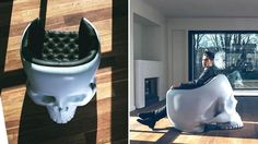Giant Skull Armchair  ~ Great pin! For Oahu architectural design visit http://ownerbuiltdesign.com