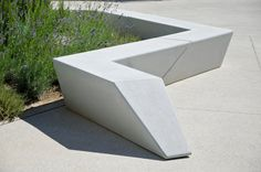 Concrete bench, Escofet Milenio by Woodhouse