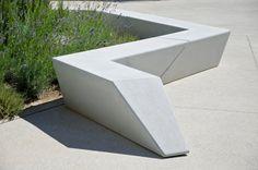 Concrete bench, Escofet Milenio by Woodhouse More