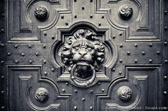 Lion Head Door Knocker - http://3scape.com  #europe #blackandwhite #photos