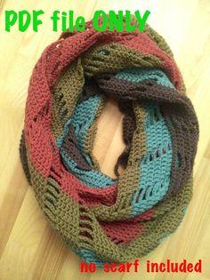 Crochet pattern of Infinity Scarf Cowl JOLITA, PDF file only #NerriPango $2.90