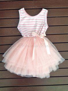 Baby girls pink lace tutu princess dress  by MyPrincessPenelope, $35.00