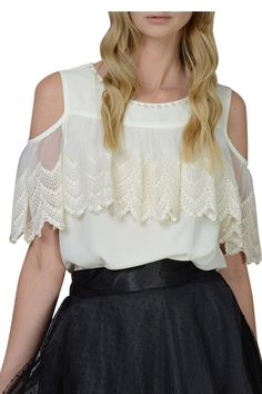 Darccy & Soma Ivory Lace Wave Top LUX FIX