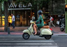Fashionable Vespa in Madrid, Spain. Photograph by Reflexif