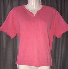 Charter Club Womens Sz L 100 Cotton Short Sleeve Knit Sweater Style Top | eBay