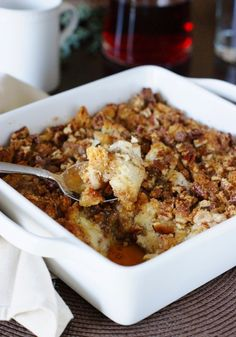 Just like it sounds, this Overnight Pecan Cinnamon Roll Casserole recipe is an overnight sensation. Use this simple dessert recipe to create a cozy, irresistibly delicious holiday breakfast tradition your whole family will love. What's For Breakfast, Breakfast Dishes, Breakfast Recipes, Breakfast Casserole, Christmas Breakfast, Sausage Breakfast, Breakfast Potluck, Breakfast Slider, Overnight Breakfast