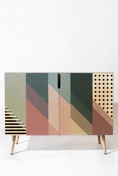 Mareike Boehmer Geometry Blocking 9 Credenza | DENY Designs Home Accessories