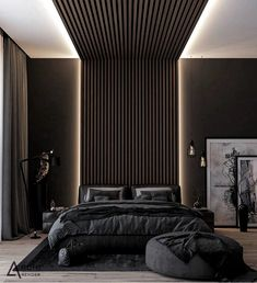 habitaciones de hotel How do you like this bedroom design . a room should never be outside . - How do you like this bedroom design a room should never let the eye see bedroom decor - Modern Luxury Bedroom, Luxury Bedroom Design, Master Bedroom Interior, Modern Master Bedroom, Luxurious Bedrooms, Home Bedroom, Dark Bedrooms, Modern Bedrooms, Bedroom Decor