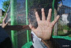 Trampoline avec filet pour enfant