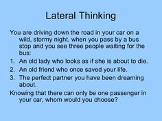 Lateral Thinking Puzzles by New College Durham via slideshare