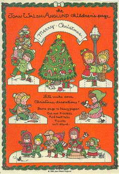 Joan Walsh Anglund Christmas Decorations  paper doll craft page