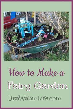 How to make a fairy garden itsawahmlife.com