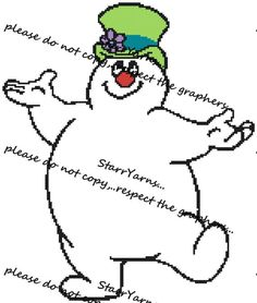 Frosty the snow man children's crochet Graph blanket by StarrYarns on Etsy Christmas Yarn, Christmas Cross, Half Double Crochet, Single Crochet, Cross Stitch Patterns, Crochet Patterns, Nature Words, Graph Design, Bobble Stitch
