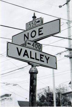 SF street signs - Noe Valley